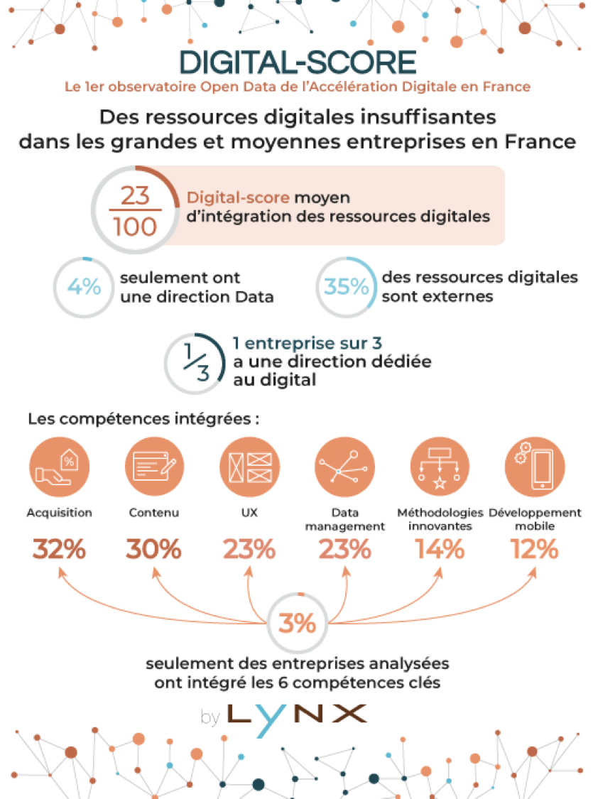 Des ressources digital insuffisantes dans les grandes et moyennes entreprises en France